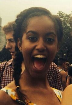 Malia Obama at Lollapalooza in Chicago  this past weekend.