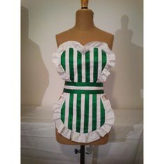 Handmade Sailor Senshi Maid apron, Maid cafè apron fifties style ($57) ❤ liked on Polyvore featuring home, kitchen & dining, aprons, cotton apron, white cotton apron, 1950s apron, 50s apron and white apron