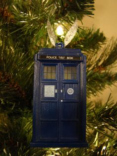Doctor Who Tardis Christmas Tree Ornament. $7.95, via Etsy. Oh, I need this. I really need this!!!!