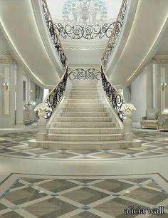 Luxurious Grand Staircase Design Ideas For Amazing Home 45 Luxury Staircase, Grand Staircase, Staircase Design, Interior Design Dubai, Interior Design Companies, Building Design, Interior And Exterior, Modern Interior, Interior Work