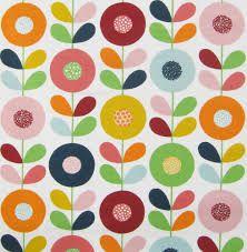 scandinavian fabric - pretty pattern and colours