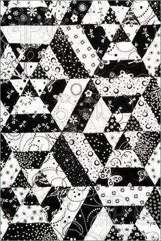 60 degree triangle spiderweb quilt