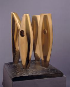 Four Figures Waiting, Polished bronze, 1968 (BH 461, edition of 9 + 0), casts at Cecil Higgins Art Gallery, Bedford; the Hakone Open-Air Museum, Hakone, Japan