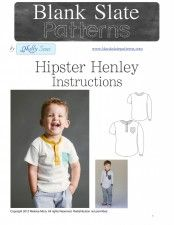 Unisex Hipster Henley PDF Pattern - 18M to 8 Years - by Blank Slate Patterns