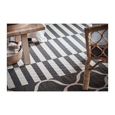 STOCKHOLM Rug, flatwoven, black stripe handmade, stripe off-white black/off-white, 5 ' ' - IKEA Large Area Rugs, Small Rugs, Ikea Stockholm 2017, Man 2, Mirrored Picture Frames, Medium Rugs, Photo Deco, Professional Carpet Cleaning, Small Furniture