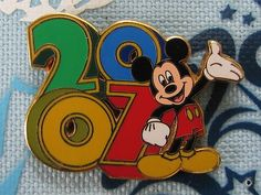 Disney Trading PIN Mickey Mouse Multi Colored Dated 2007 Year Waving Happy | eBay