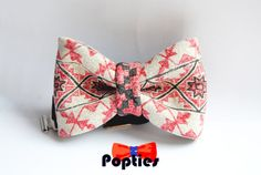 ROMANIA Leather BOW TIE hand painted by Popties on Etsy