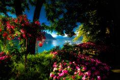Around the lake in Montreux, Switzerland