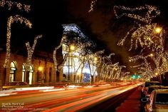 Andrássy street at Christmas time