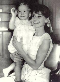 Audrey Hepburn. Her greatest joy & accomplishment, in her own mind, was motherhood