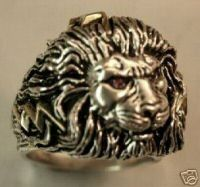 African Lionhead ring sterling silver Large by 3dgeo on Etsy
