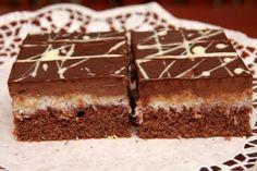 Čokoládovo-kokosové rezy, recepty, Zákusky | Tortyodmamy.sk European Dishes, Czech Recipes, Pastry Cake, Sweet Cakes, Desert Recipes, Sweet Recipes, Cupcake Cakes, Food To Make, Sweet Treats