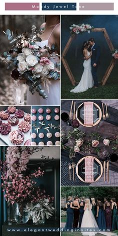 unique mulberry and dark teal blue jewel tone wedding colors themes unique color schemes 5 Unique Wedding Color Combos to Make Your Big Day Stand Out Unique Wedding Colors, Winter Wedding Colors, Unique Weddings, Outdoor Weddings, Country Weddings, Summer Weddings, Romantic Weddings, Blue Weddings, Turquoise Weddings
