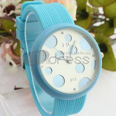 Fashion light blue watch