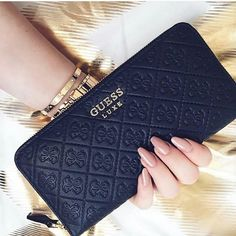The Midas touch. Discover the Wallet Collection exclusively in Europe… Wallets For Girls, Cute Wallets, Guess Purses, Guess Bags, Guess Handbags, Purses And Handbags, Stylish Handbags, Cute Bags, Purse Wallet