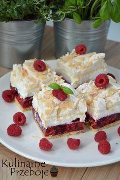 Malinowa chmurka przepis na ciasto - KulinarnePrzeboje. Dessert Drinks, Dessert For Dinner, Dessert Bars, Jello Recipes, Cookie Recipes, Dessert Recipes, Anko, Good Food, Yummy Food