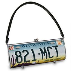 License Plate Purse - Eco-Fashion at Its Best!