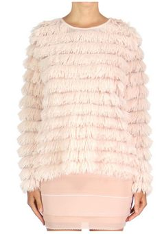 Snuggle up on your settee in this Soft Shaggy Sweater Top in Peach at  Jupenyc  59 03f26b753