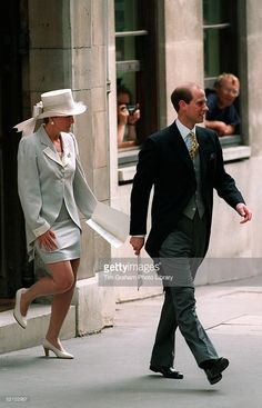 Prince Edward And Sophie Rhys-jones At The Wedding Of Lady Sarah-armstrong Jones To Daniel Chatto In London.