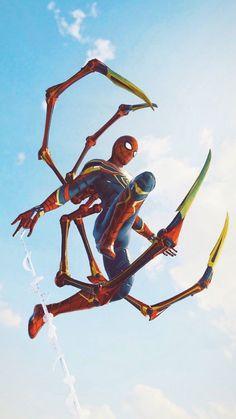 Iron Spider in Air iPhone Wallpaper Free – GetintoPik Marvel Comics, Marvel Avengers, Marvel Heroes, Marvel Characters, Amazing Spiderman, Spiderman Art, Logo Super Heros, Marvel Universe, Iron Spider
