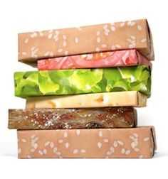 Hamburger sandwich wrapping paper!
