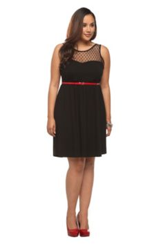 I actually already own this one... Could do this one also?  Swiss Dots Mesh Illusion Belted Dress