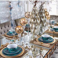 Mirror dining room glam