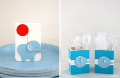 First birthday decorations: simple elephant decor