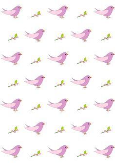 FREE printable bird pattern paper | #nursery