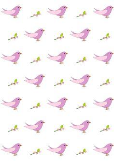 FREE printable bird pattern paper | #nursery