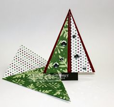 Always Stampin' with Kelly Gettelfinger: Triangle Christmas Tree Card... TUTORIAL