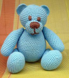 Häkeln Teddy Bär Blue von Crochetland auf DaWanda.com