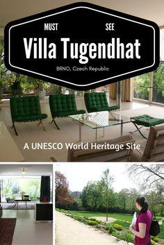 Villa Tugendhat in Brno, Czech Republic, a UNESCO World Heritage Site