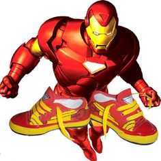 www.artesilvestre.com.ar Zapatillas customizadas Iron man