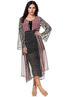 Mix Print Maxi Dress
