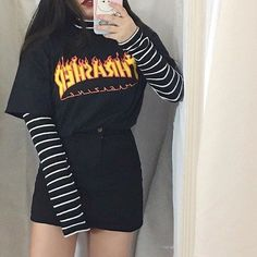 edgy outfits Next Post Previous Post My babysitter (BTS ) Jessica's Eomma decided to go on a business trip # Fan-Fiction # amreading # books # wattpad Best Pictur Hipster Outfits, Edgy Outfits, Mode Outfits, Retro Outfits, Grunge Outfits, Cute Casual Outfits, Vintage Outfits, Girl Outfits, Grunge Clothes