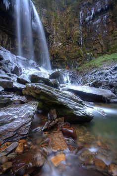 Icy Melincourt Falls - J Samuel
