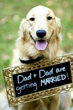 Dad & Dad are getting married sign