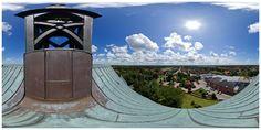 Blick vom Kirchturm in Hage
