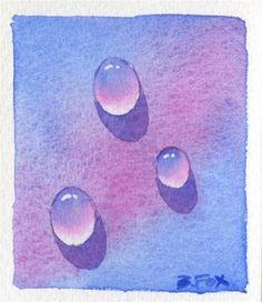 """""""DROP No. 5 (SOLD) watercolor painting by Barbara Fox"""" - Original Fine Art for Sale - � Barbara Fox"""