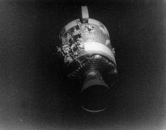 The crippled service module of Apollo taken from the command module, showing the extent of the damage from an oxygen tank explosion. One of the most heroic and triumphant events. Apollo Space Program, Nasa Space Program, Moon Missions, Apollo Missions, Cosmos, Soyuz Spacecraft, Apollo Spacecraft, Programa Apollo, Apollo 13