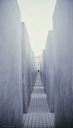 Holocaust Memorial Berlin, Germany Ironically it is across the street from the…