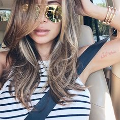 Nothing like a #selfie fresh out of the salon @marianna_hewitt #901girl #summer #hair