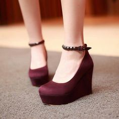 Women Wedges Studded Ankle Straps High Heels Pumps Platform Shoes 9736 Source by annabellejalber fashion heels Ankle Strap High Heels, Platform High Heels, Black High Heels, Ankle Straps, High Heel Boots, High Heel Pumps, Pumps Heels, Black Platform, Wedge High Heels