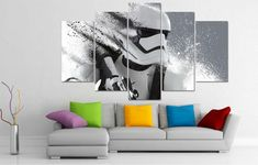 No Frame Star Wars Movie Stormtrooper Canvas Poster Modern Wall Canvas Painting Decorate Children Kids Living Room Wall Pictures Living Room Pictures, Wall Art Pictures, Print Pictures, Home Decor Wall Art, Home Art, Living Room Decor, Canvas Wall Art, Wall Art Prints, Canvas Prints
