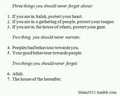 Three things you never forget about, two things to never narrate, two things never to forget (via The Beauty of Islam) Hadith Quotes, Quran Quotes Love, Quran Quotes Inspirational, Muslim Quotes, Imam Ali Quotes, Inspiring Quotes, Islamic Teachings, Islamic Qoutes, Islamic Messages