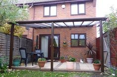 Pergola Kits With Canopy Outdoor Decor, Glass Roof, Deck With Pergola, House Front, Patio Design, Aluminum Patio, Pergola Plans, Roof Terrace