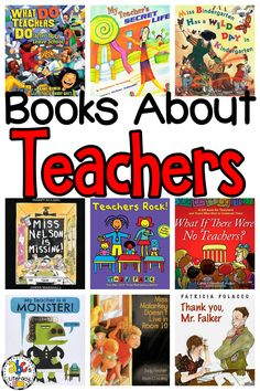 From Thank You, Mr. Falker by Patricia Polacco to My Teacher For President by Kay Winters, your students are sure to love these 20 Picture Books About Teachers. Some of the stories in this collection thank teachers for everything that they do, other books reveal that teachers are real people, and many of these read alouds are just plain silly. Click on the picture to see the books list for kids! #booklistsforkids #booksaboutteachers #picturebooksforkids #readaloudbooksforkids #childrensbooks