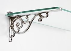 """Luciano"" Ornate Scroll Bracket (210mm) - Wall Brackets in Chrome, Brass and Iron - Shelf Brackets - Other Hardware - Home & Interiors - Catalogue 