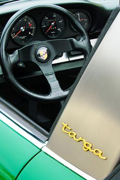 Images of Steering Wheels by Jill Reger - Steering Wheel Images -   Porsche Targa Steering Wheel And Emblem
